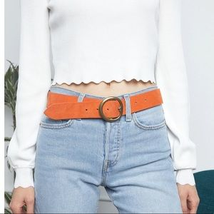 B-Low The Belt baby bell bottom suede/leather belt